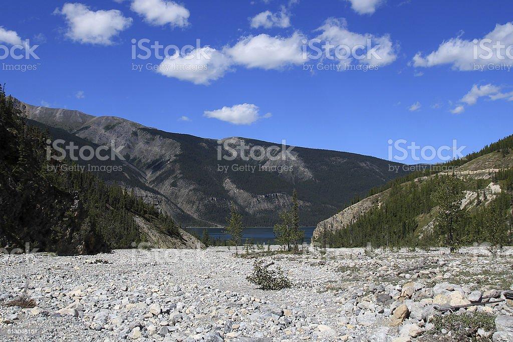 Muncho Lake, British Columbia, Canada stock photo