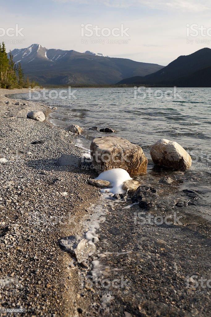 Muncho Lake stock photo