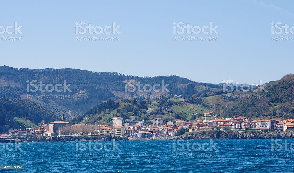Mundaka from sea stock photo