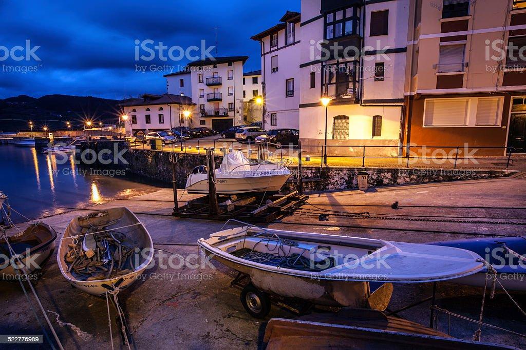 Mundaka harbour stock photo