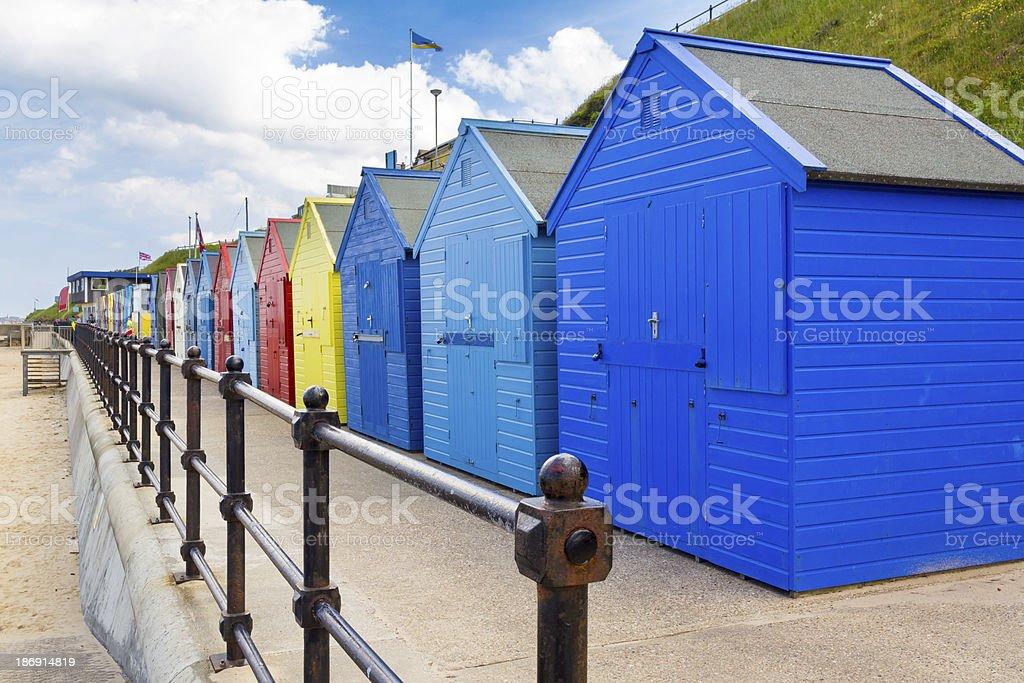 Mundesley Beach Huts Norfolk England royalty-free stock photo