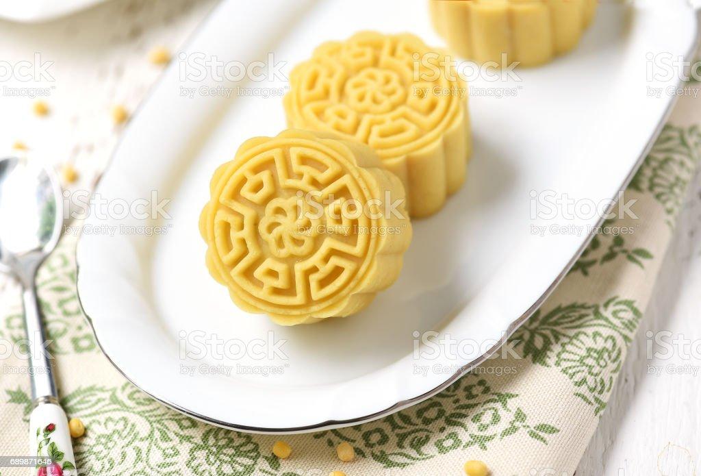 Mung Bean Cake stock photo