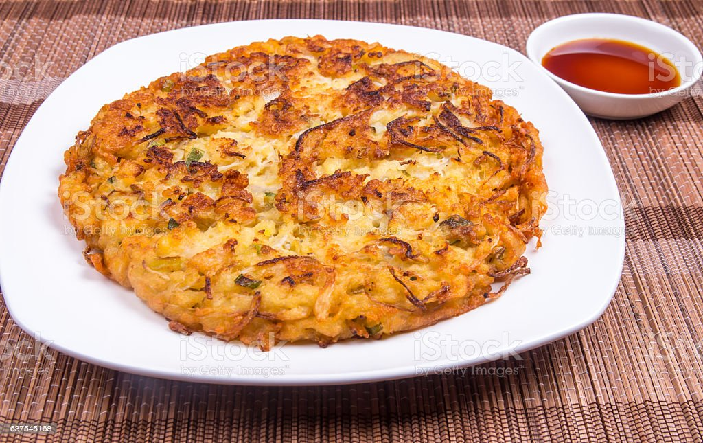 Mung Bean Pancake ( Nokdu-jeon ) - Korea Food stock photo