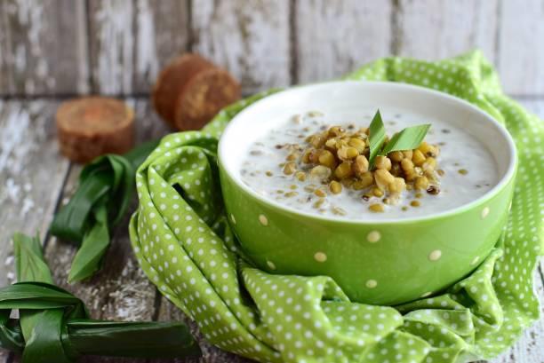 mung bean porridge stock photo