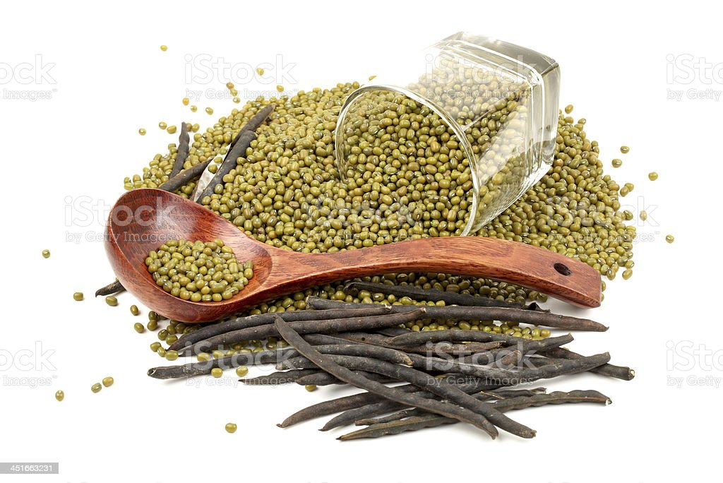 Mung beans stock photo