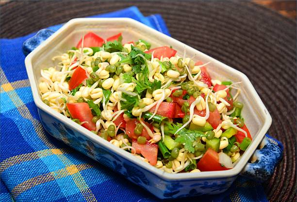 Mung Beans Sprouts Salad stock photo