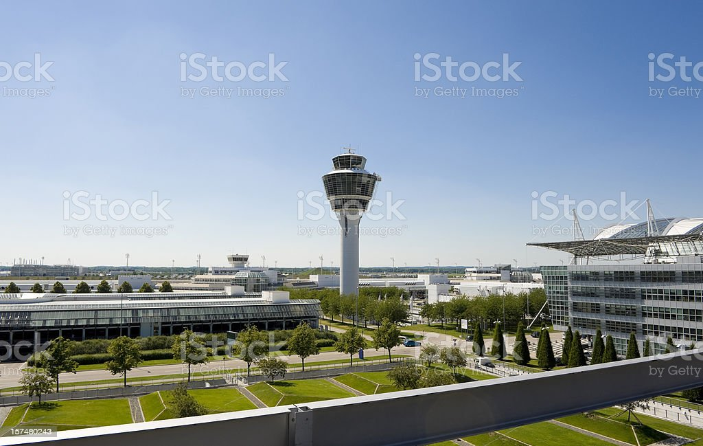 Munich airport royalty-free stock photo