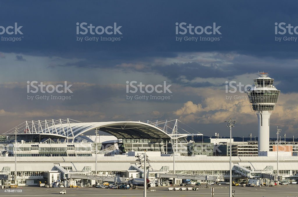Aeropuerto de Munich - foto de stock