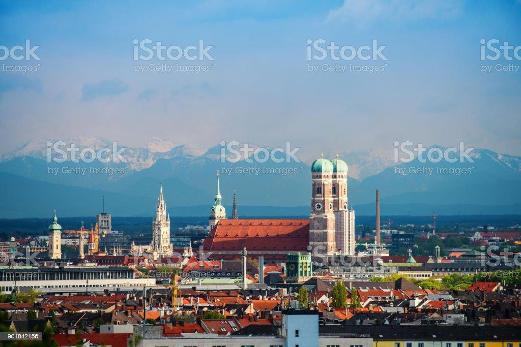 München-Alpen-Panorama Lizenzfreies stock-foto
