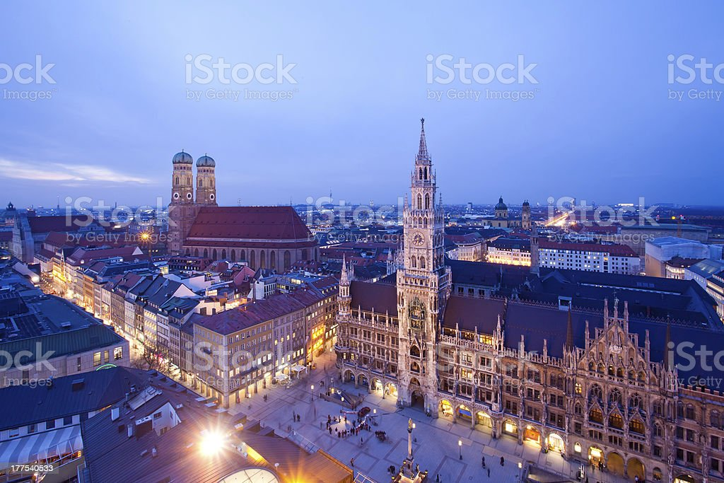 Munich at the evening stock photo