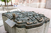 Munich, Bavaria, Germany. \nMunich to touch To feel the Munich Old Town and to see from a bird's eye view allows the bronze touch model, which has now been set up in front of the Frauenkirche in the city center. The true to the original model was created by the sculptor Egbert Broerken from Welver / Westphalia