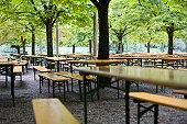 Typical Bavarian beer garden