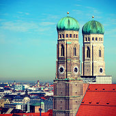 Munich Cathedral on a wonderful sunny day in spring