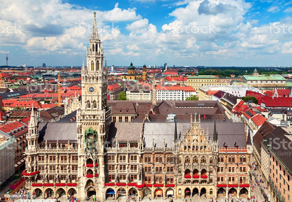 Munich center cityscape stock photo