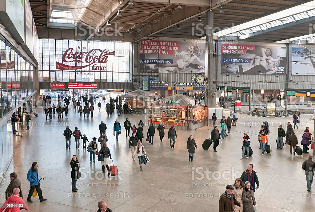 Munich Central Train Station royalty-free stock photo