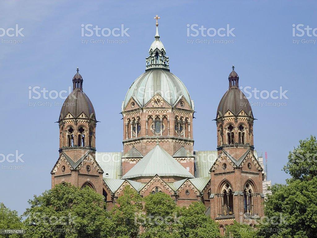 Munich churches: St. Lukas 02 royalty-free stock photo
