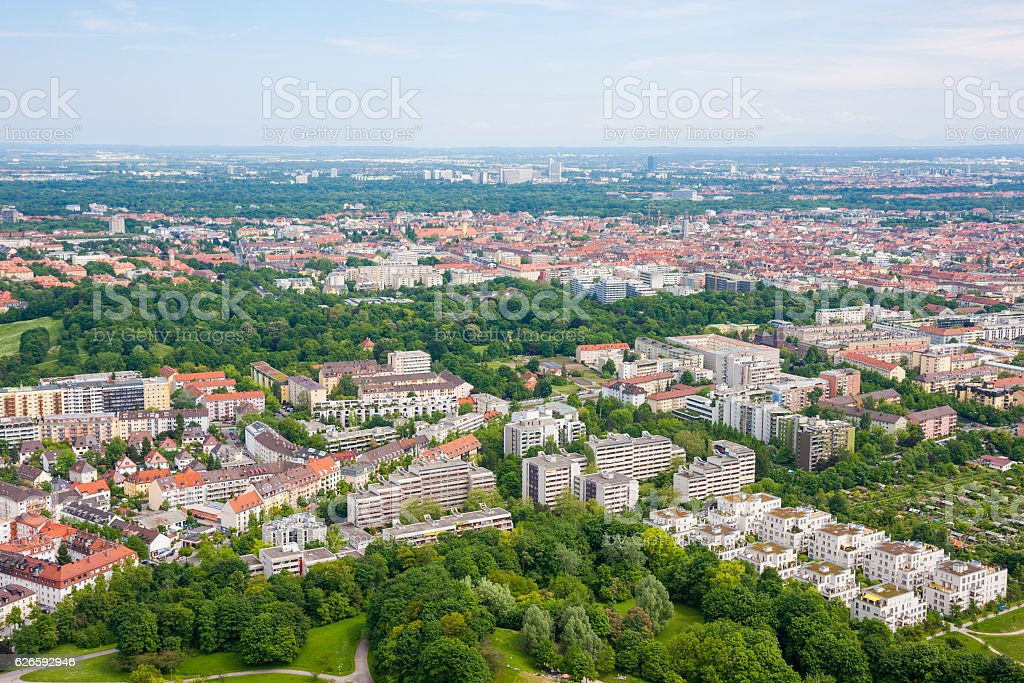 Munich City From Above stock photo