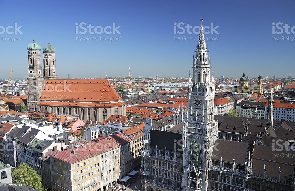 Munich city house royalty-free stock photo