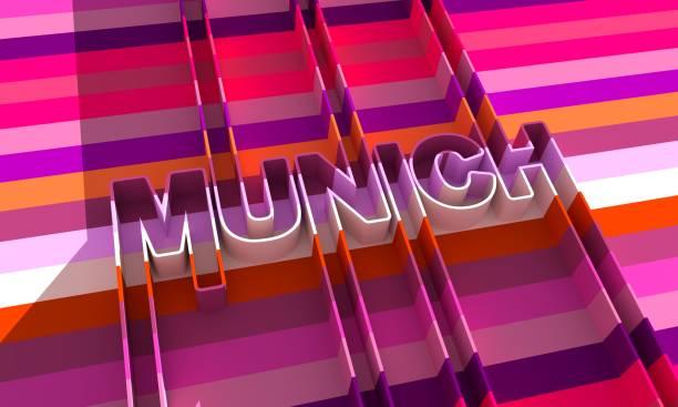 Munich city name. stock photo