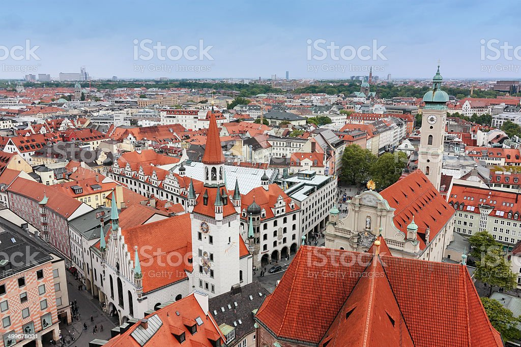 Munich Cityscape stock photo