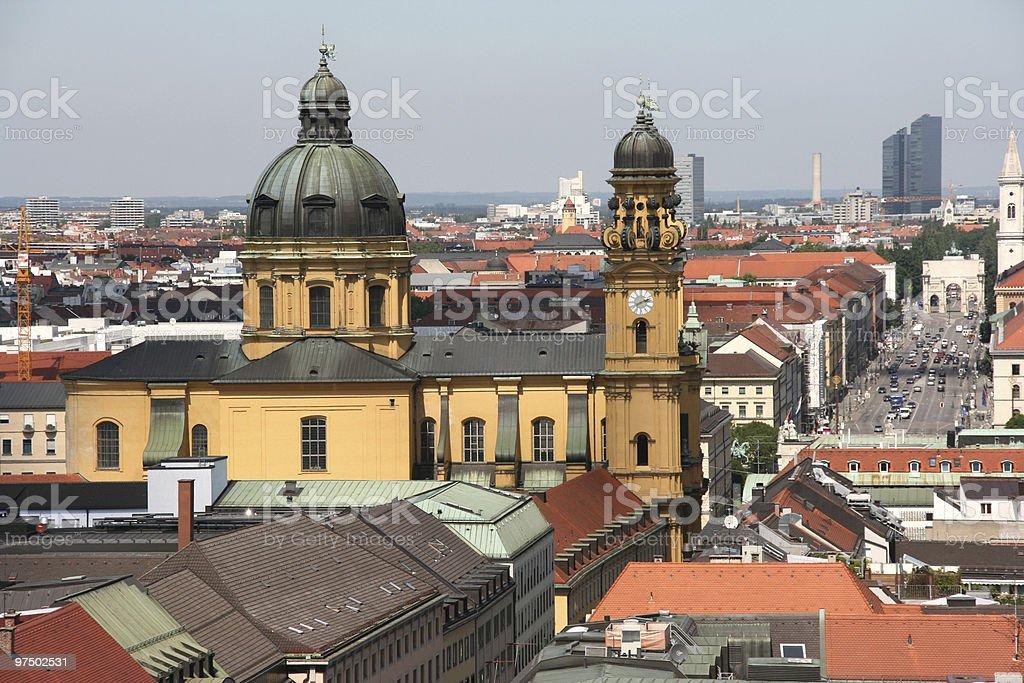 Munich cityscape royalty-free stock photo