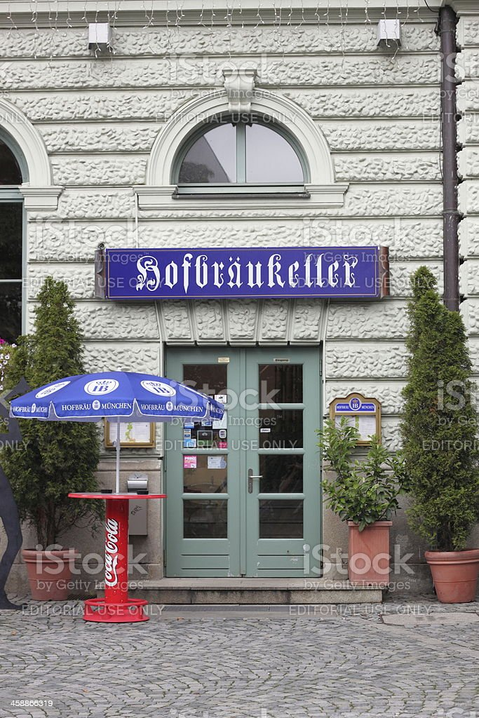 Munich: Entrance of the Hofbräukeller stock photo