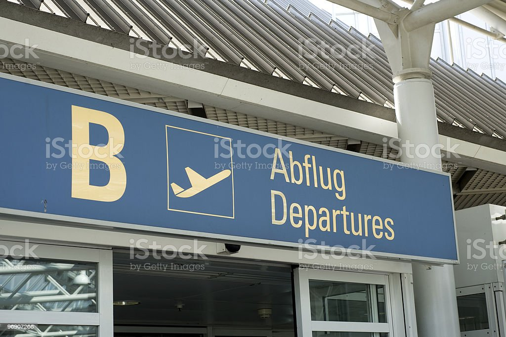 Munich Franz Josef Strauss Airport royalty-free stock photo