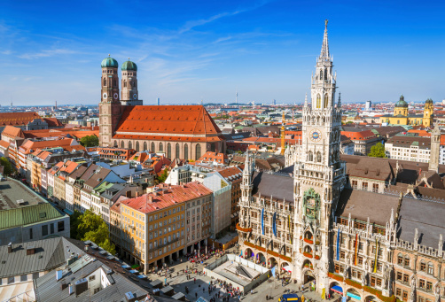 Munich, Germany - Aerial view of the City Centre