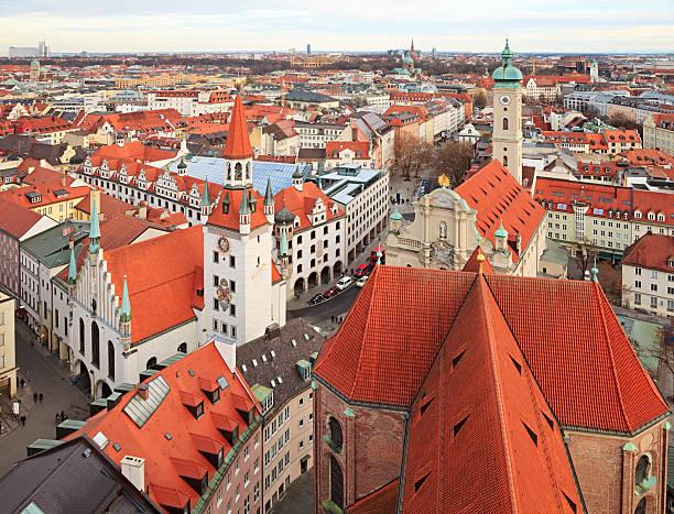 munich, germany - sankt peterskyrkan münchen bildbanksfoton och bilder