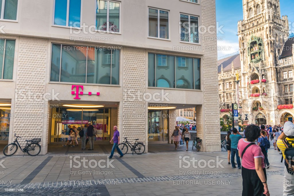 Munich Germany T Mobile Sign Stock Photo More Pictures Of 2017