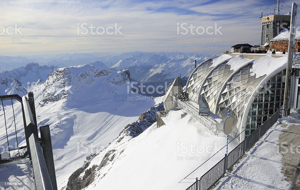 Münchner Haus (Zugspitze mountain). royalty-free stock photo