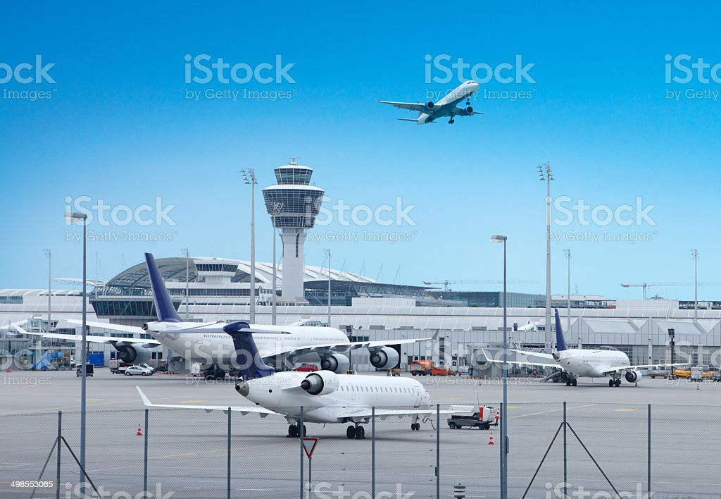 Munich International Airport stock photo
