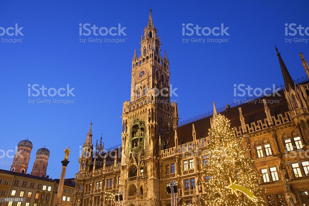 Munich Marienplatz royalty-free stock photo