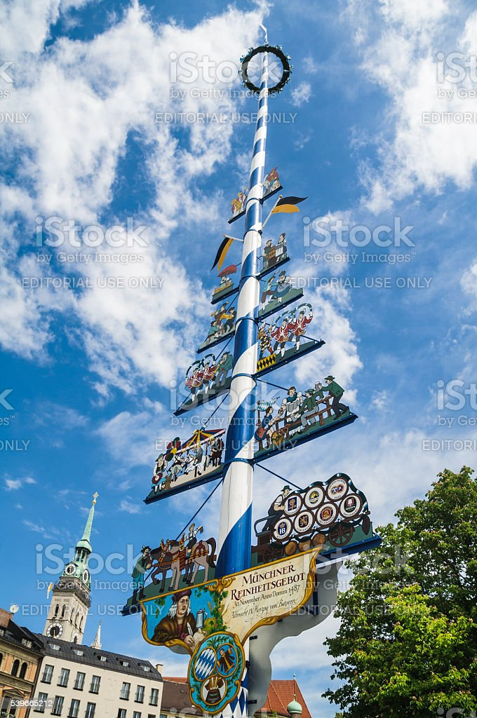 Munich Maypole stock photo