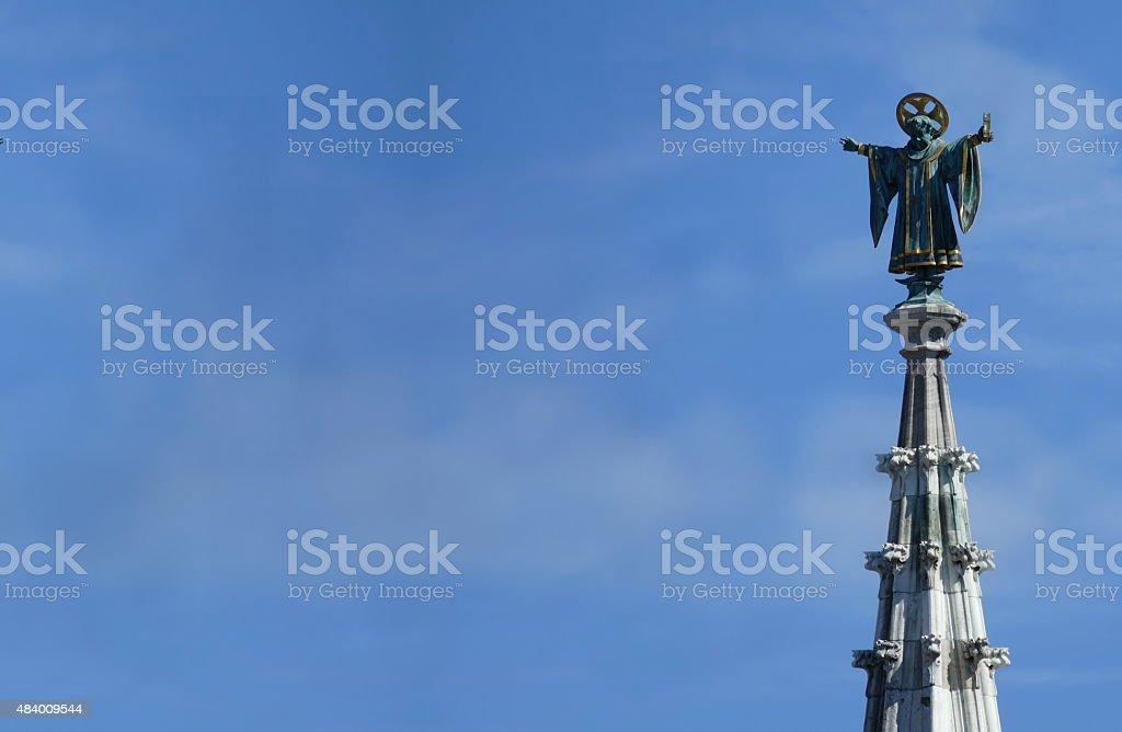 München ist die Münchner Kindl oben der City Hall tower – Foto