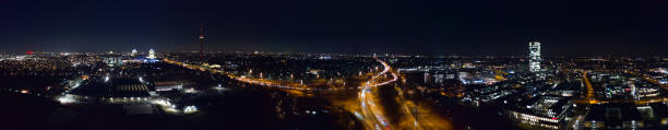 Munich Moosach Panorama stock photo