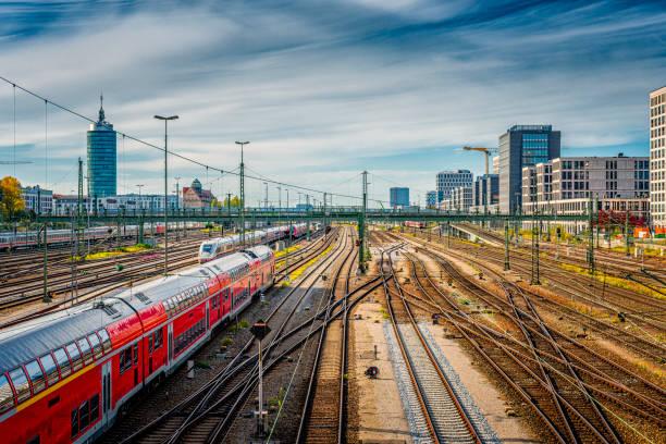Munich railroad stock photo