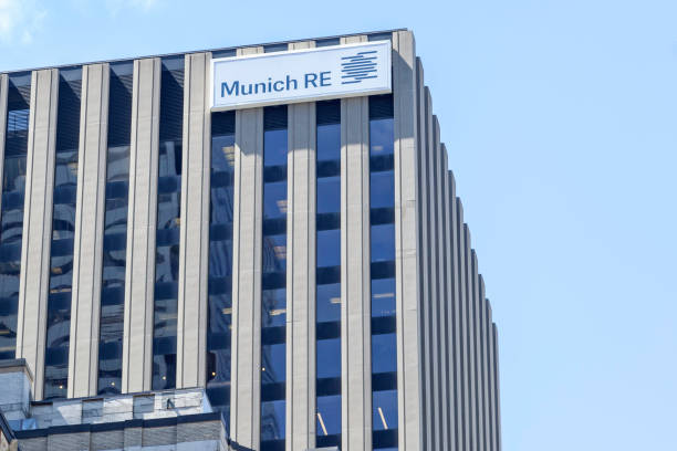 Munich Re Canada head office  building in downtown Toronto, Canada. stock photo