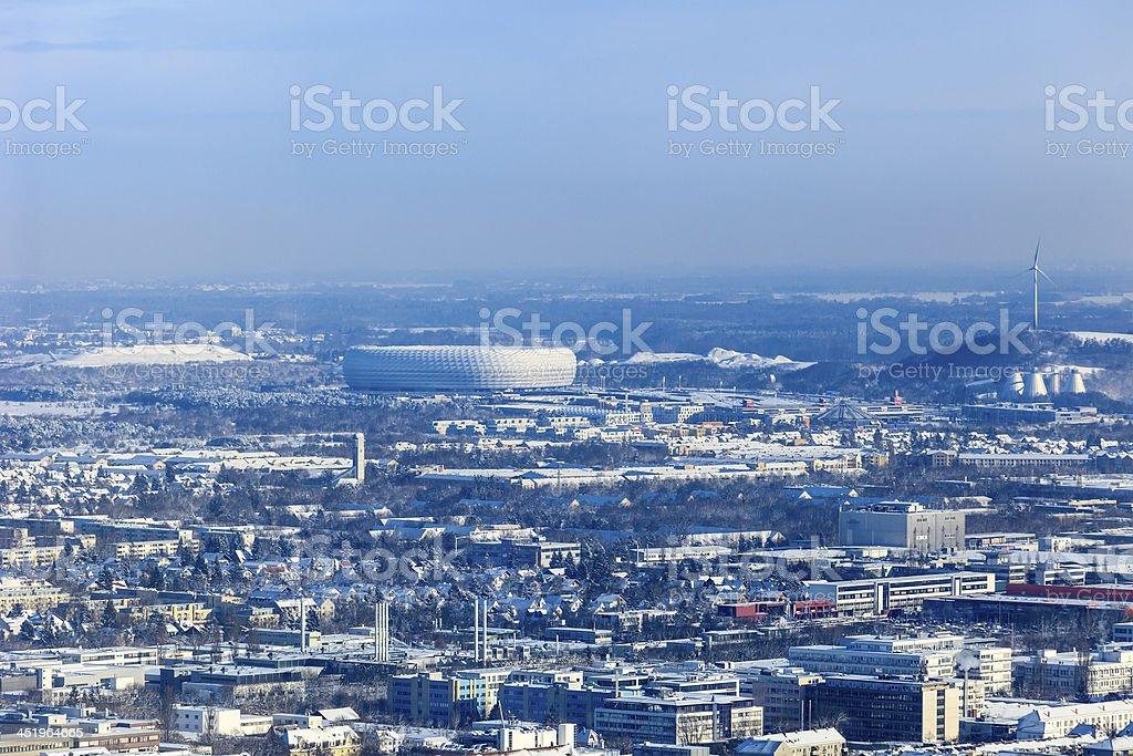 München Skyline im Winter – Foto
