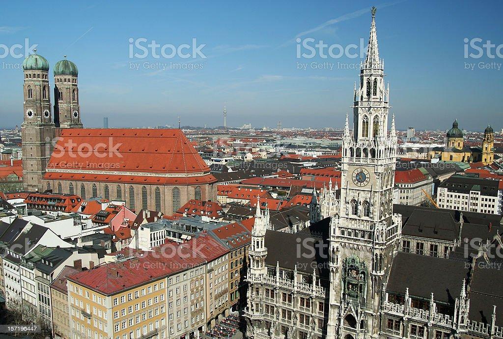 Munich skyline royalty-free stock photo