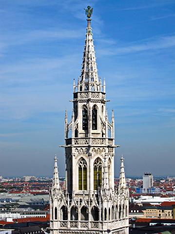 Munich The Town Hall Tower Bavaria Germany — стоковые фотографии и другие картинки 2010