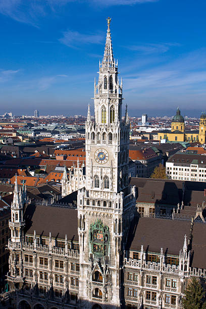 Munich Town Hall stock photo