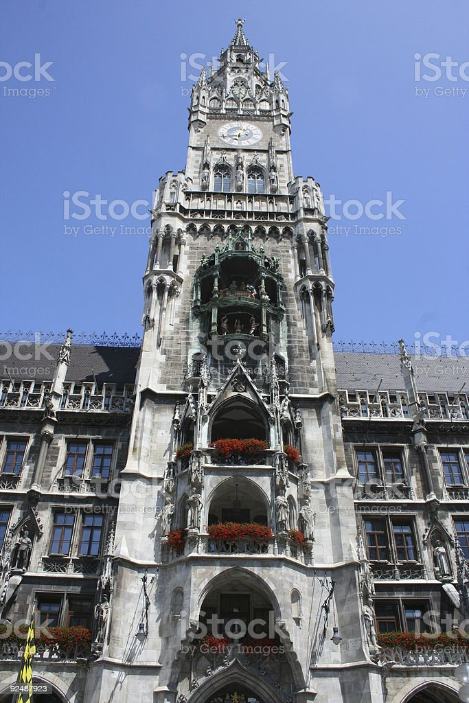 Munich Townhall royalty-free stock photo