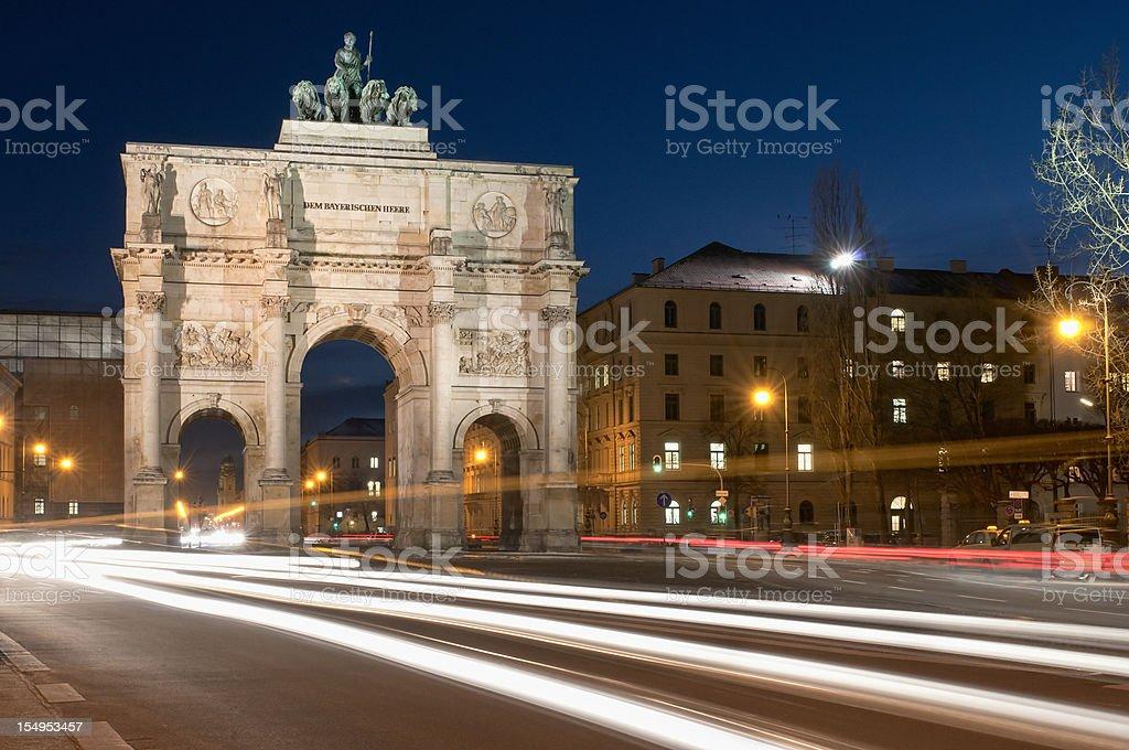 Munich Victory Gate stock photo
