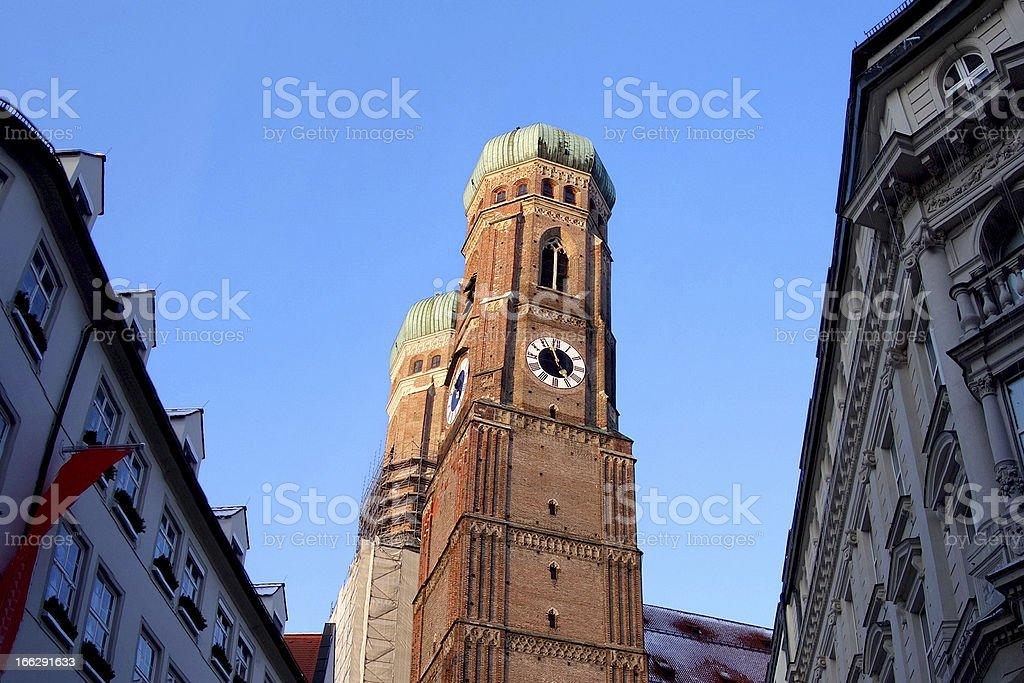 Munich's famous Frauenkirche royalty-free stock photo