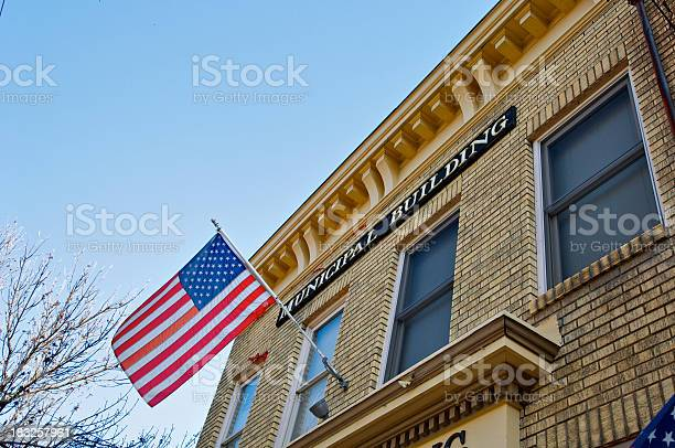 Municipal Building and American flag
