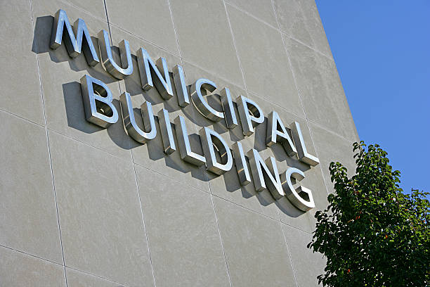 Municipal Building Close-up  town hall stock pictures, royalty-free photos & images