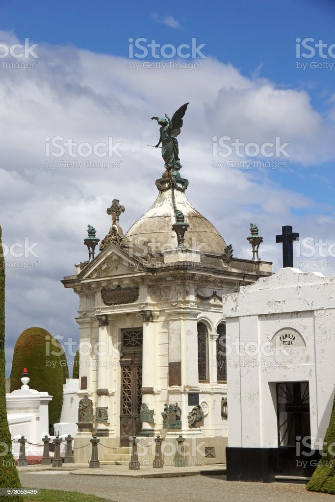 Municipal cemetery in Punta Arenas, Chile stock photo