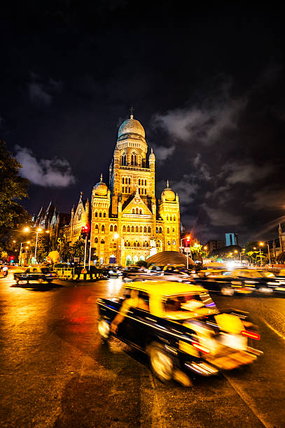 municipal corporation building, mumbai - estação chhatrapati shivaji - fotografias e filmes do acervo