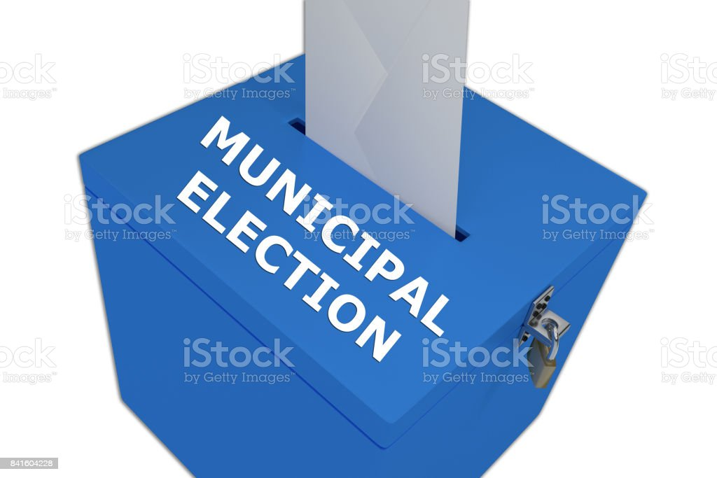 Municipal Election concept stock photo